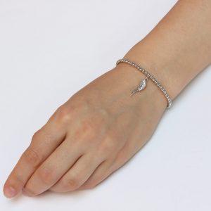 Bratara argint aripa, Corelle, cod BFA004