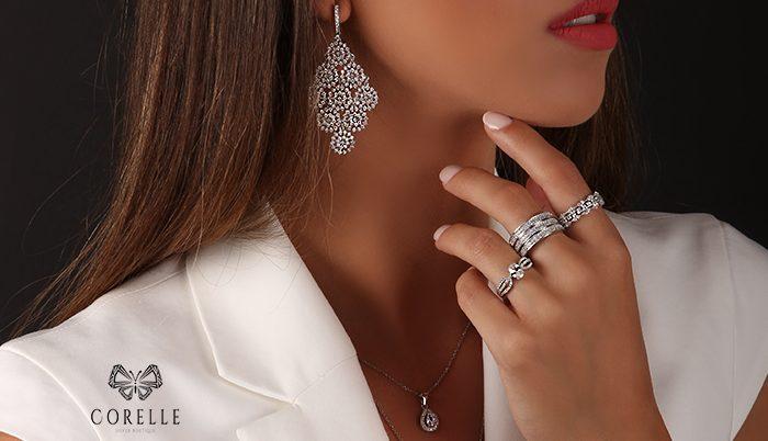 Inele din argint simple si elegante- Corelle