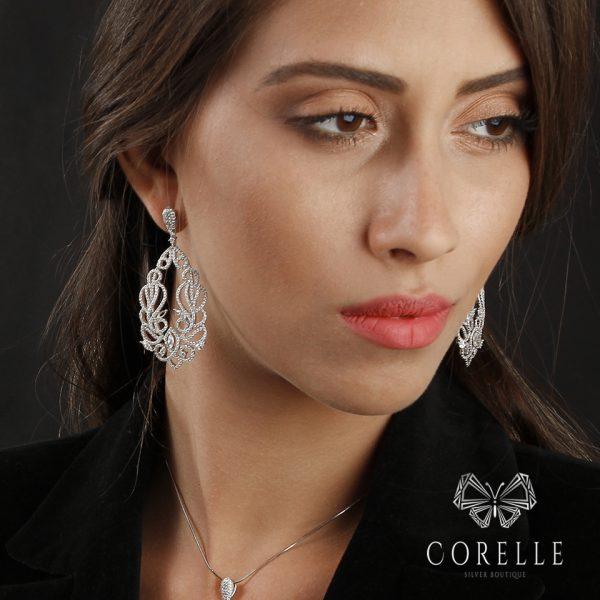 Cercei argint 925 - Corelle - Cod TRSE087