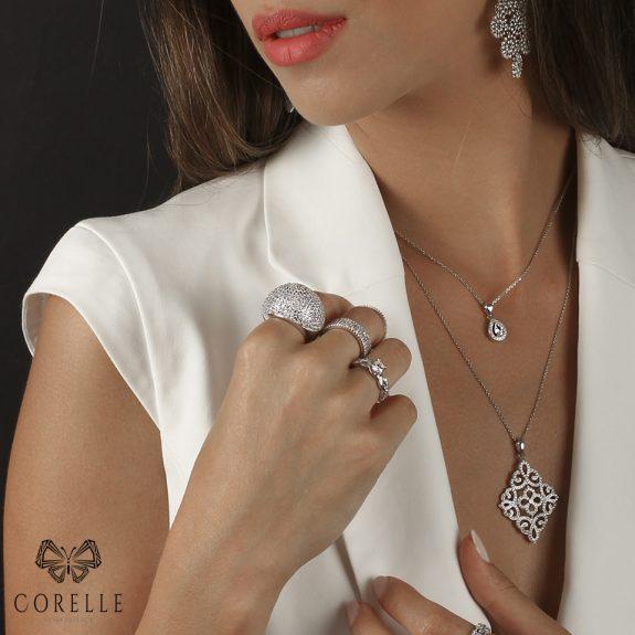 Pandantiv argint 925, Corelle, Cod TRSP008