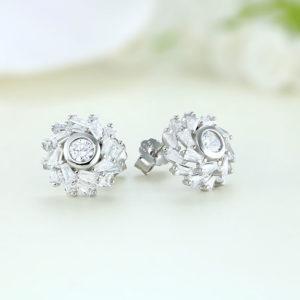 Cercei argint mici cu pietre - ICE0021