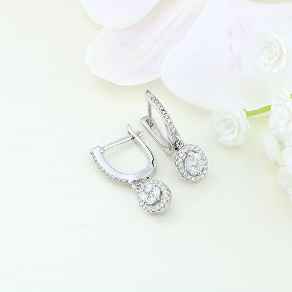 Cercei argint cu pietre - ICE0045