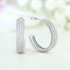 Cercei argint cu pietre - ICE0049