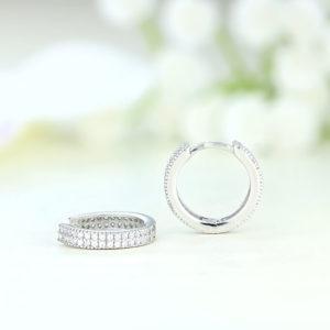 Cercei argint rotunzi cu pietre - ICE0070