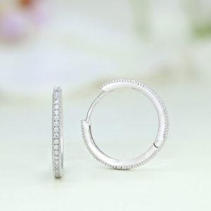 Cercei argint rotunzi cu pietre - ICE0071