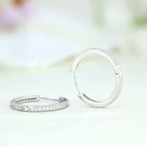 Cercei argint rotunzi mici cu pietre - ICE0071