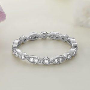 Inel argint Subtire Eternity cu pietre Fancy - ICR0002