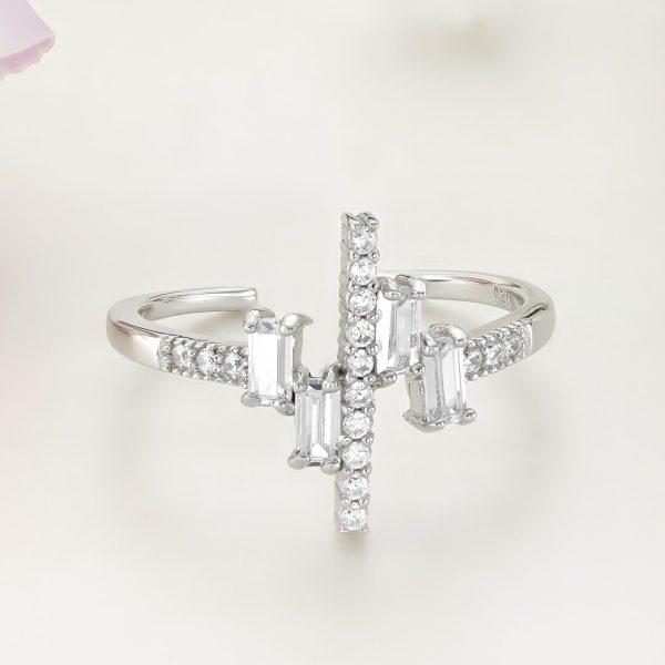 Inel argint Reglabil Fancy cu pietre - ICR0018