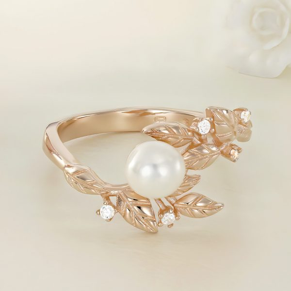 Inel argint roz cu piatra Perla Fancy - ICR0048