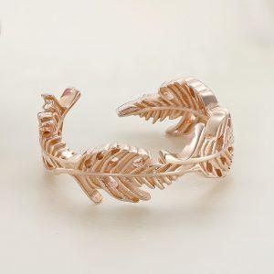 Inel argint Reglabil roz fara pietre - Pana - ICR0071