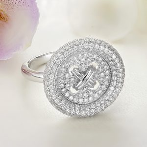 Inel argint Nasture cu pietre - ICR0106