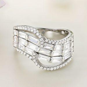 Inel argint Lat cu pietre - ICR0111