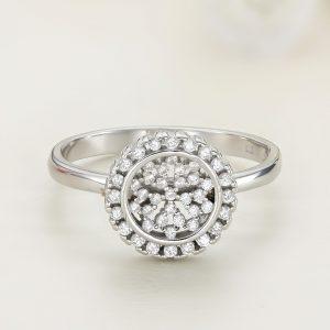 Inel argint Rotund cu pietre - ICR0124