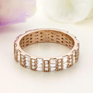 Inel argint Eternity roz cu pietre Multicolore - ICR0128