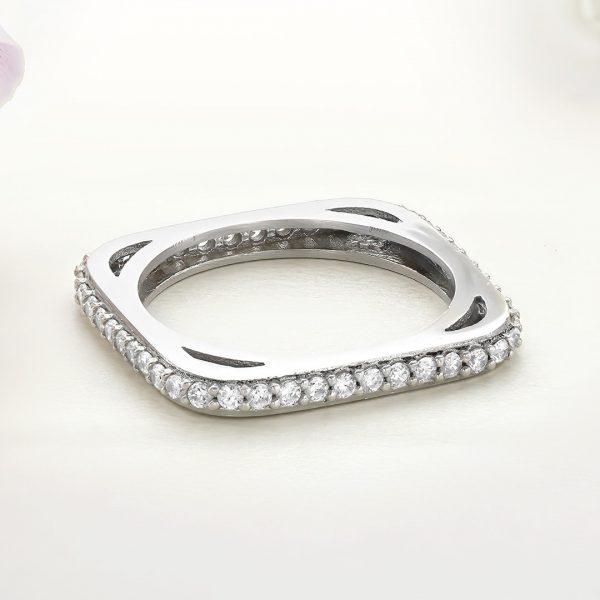 Inel argint Subtire Eternity cu pietre - ICR0132