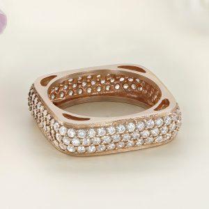 Inel argint Eternity roz cu pietre - ICR0133