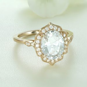 Inel logodna argint roz cu pietre Anturaj-Halo - ICR0140