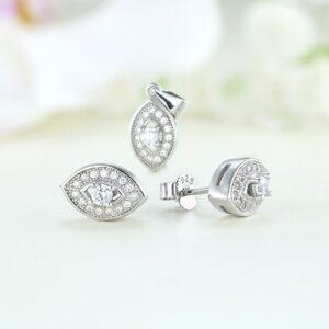 Set bijuterii argint cu pietre Fai - ICS0015