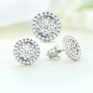 Set bijuterii argint cu pietre Nasturi - ICS0052