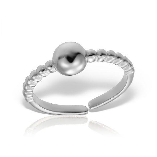 Inel argint reglabil fara pietre Bila - MCR0005