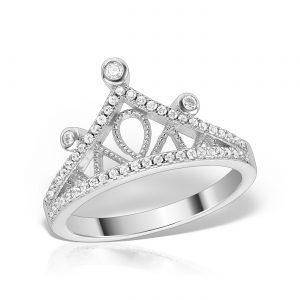 Inel argint cu pietre Coronita - MCR0012
