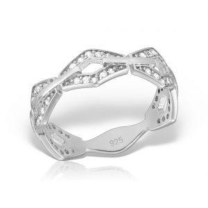 Inel argint cu pietre Eternity - MCR0013