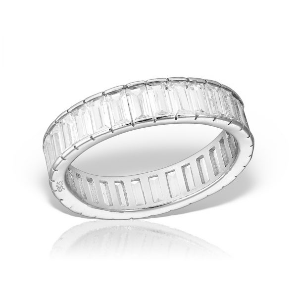 Inel argint cu pietre Eternity - MCR0031