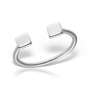 Inel argint reglabil Squares - MCR0043