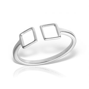 Inel argint reglabil Patrate - MCR0077
