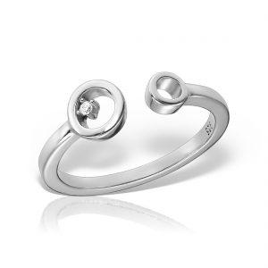 Inel argint reglabil Cercuri - MCR0086