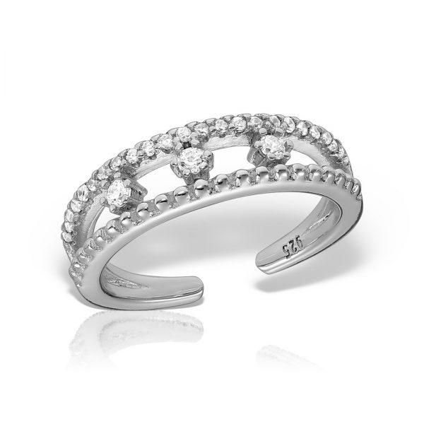Inel argint reglabil cu pietre - MCR0090