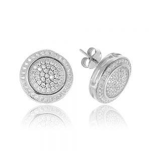 Cercei argint Surub Medii Zirconii TRSE047, Bijuterii - Corelle