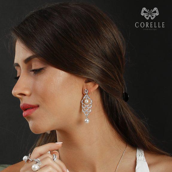 cercei perle dama argint. Corelle