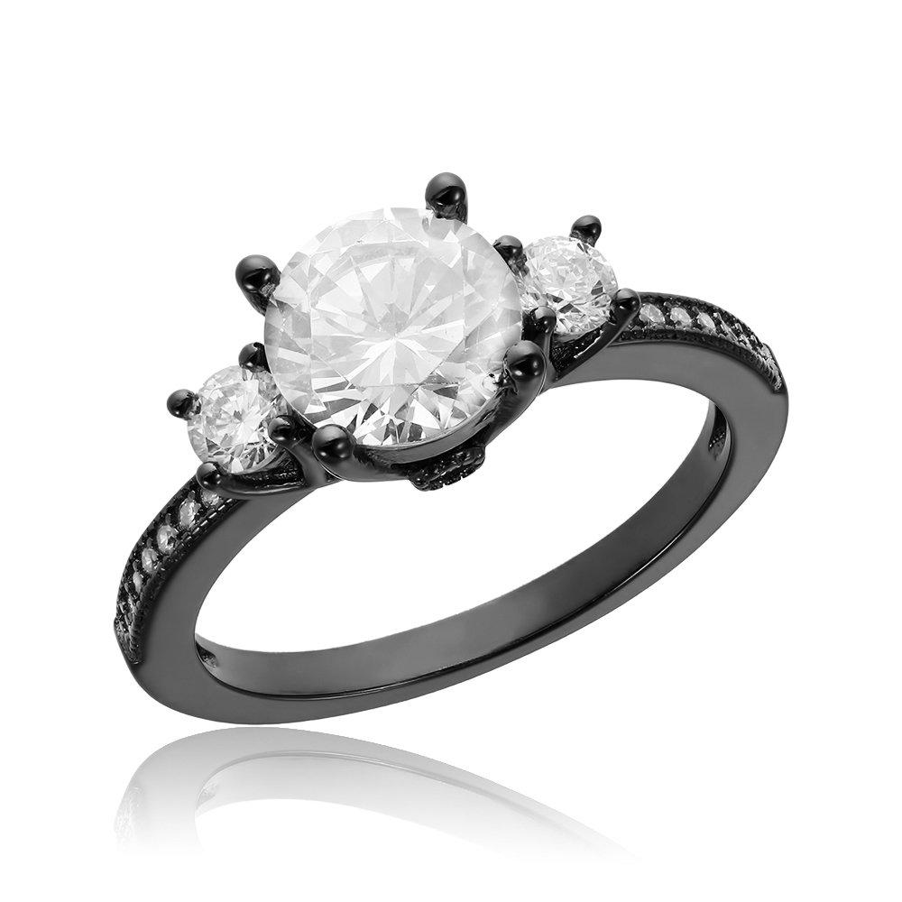 Inele de logodna. Inel de logodna argint cu 3 cristale centrale TRSR069, Corelle