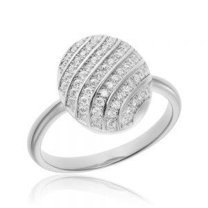 Inel argint Fancy cu cristale din zirconiu TRSR092, Bijuterii - Corelle