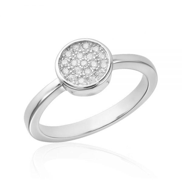 Inel argint Fancy Banut cu pietre din zirconiu TRSR094, Bijuterii - Corelle