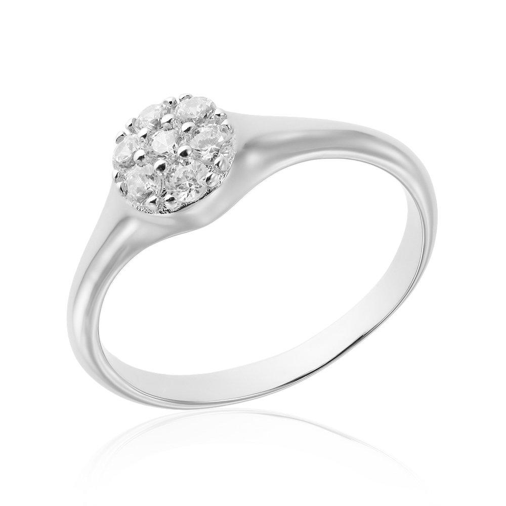 Inele de logodna. Inel de logodna argint Cluster cu cristale TRSR095, Bijuterii - Corelle