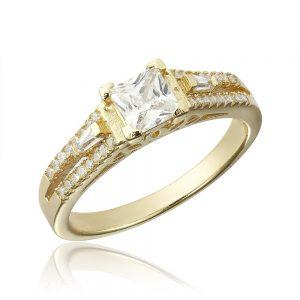 Inel de logodna argint Fancy Princess cu cristale/sant TRSR104, Corelle