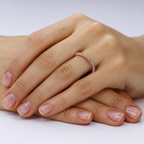 Inel argint Rose Eternity cu cristale TRSR141, Bijuterii - Corelle