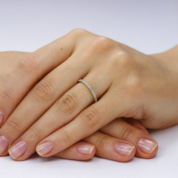 Inel argint Semi Eternity cu cristale TRSR162, Bijuterii - Corelle