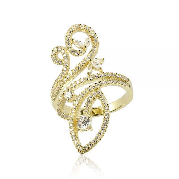 Inel argint Fancy Marquise&Briliant cu cristale din zirconii TRSR260, Corelle