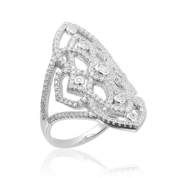 Inel argint Fancy Embroidery cu cristale din zirconii TRSR266, Corelle
