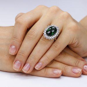 Inel argint Agat Fancy cu cristale model Anturaj TRSR276, Corelle