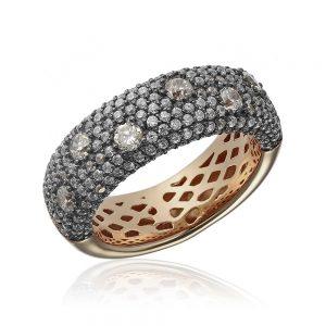 Inel argint Semi Eternitiy Fancy cu cristale TRSR278, Bijuterii - Corelle